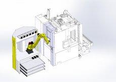 TOYODA - GS300H s robotickou buňkou pro zakládání, odběr a ukládání dílců
